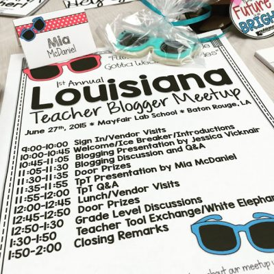 Louisiana Teacher Blogger MEETUP and a SWAG BAG