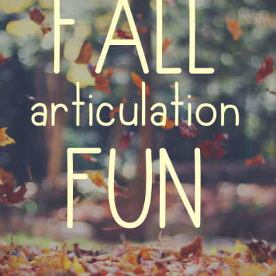 Fall Articulation Fun!