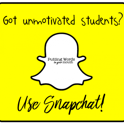 Part 4 in a Series: Building Your Students' Vocabulary with SnapChat