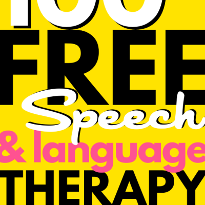 100 FREE Speech Therapy Resources List