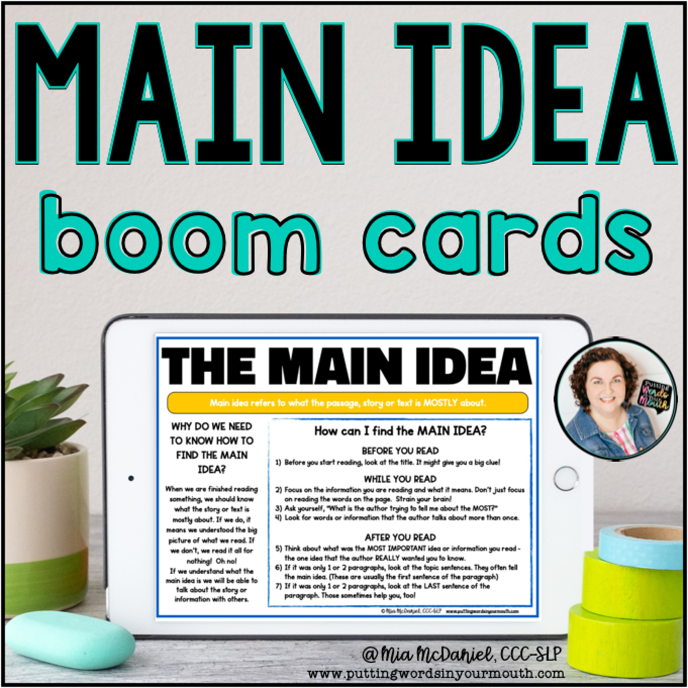 Main Idea Boom Cards