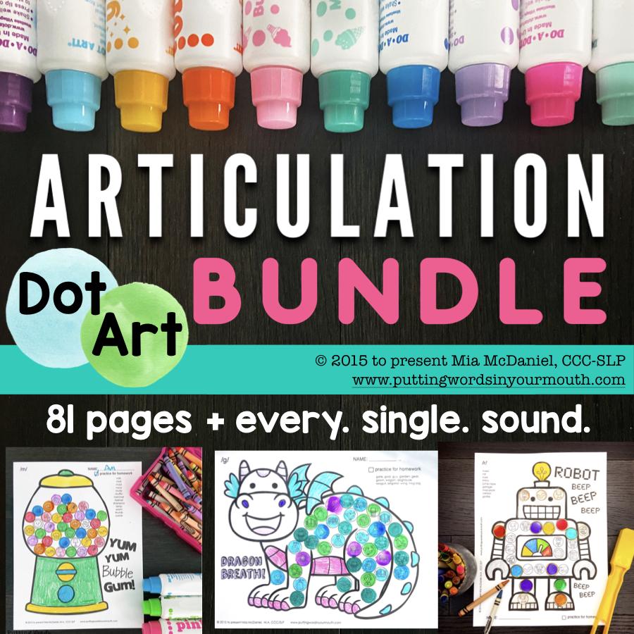 articulation dot art bundle